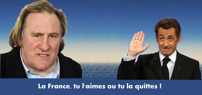 Depardieu: La France, tu l'aimes ou tu la quittes !