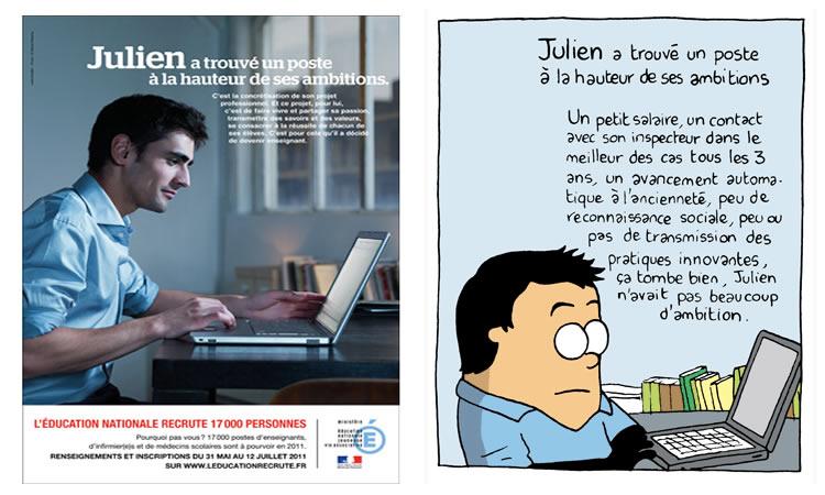 Julien a trouvé un poste à la hauteur de ses ambitions.