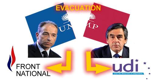 Evacuation de l'UMP title=